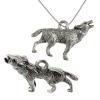 Pendant Coyote Antique Silver